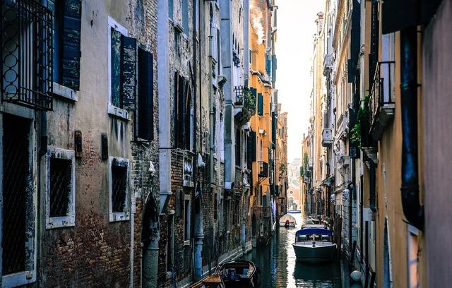 Venice italy gondolas.