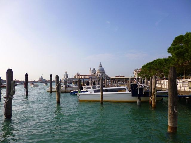 Venice italy lagoon.