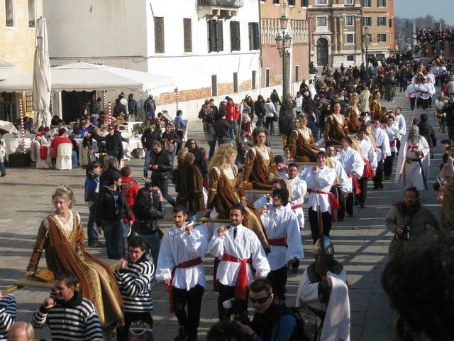 Venice italy parade, people.