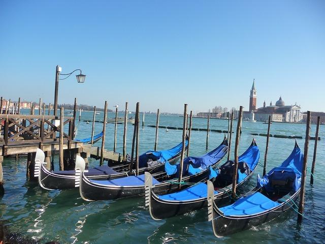 Venice lagoon italy.