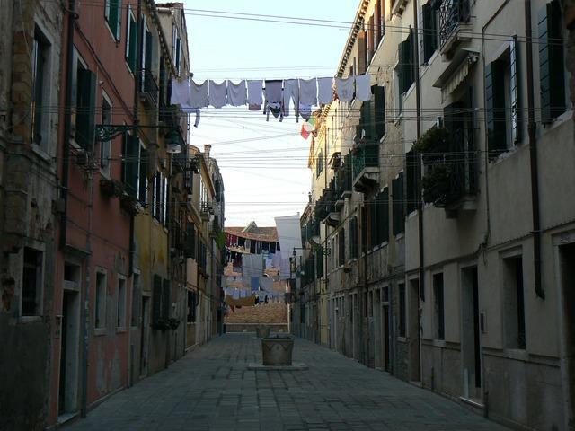 Venice street italy, transportation traffic.