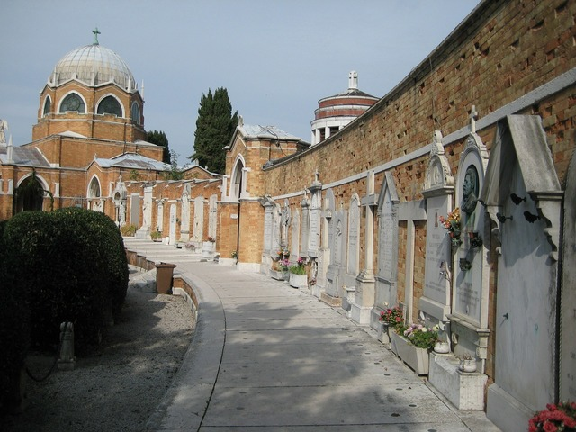 Venice tombs cemetery, travel vacation.