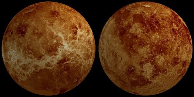 Venus planet hemisphere.