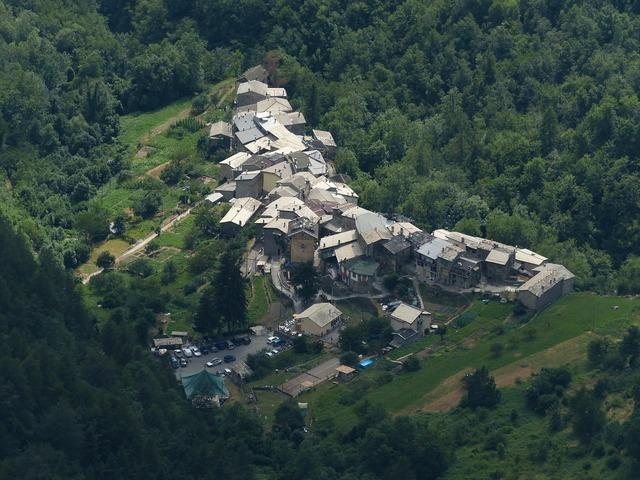 Verdeggia village place, architecture buildings.
