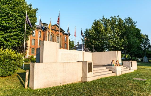 Vermont landmark memorial, places monuments.