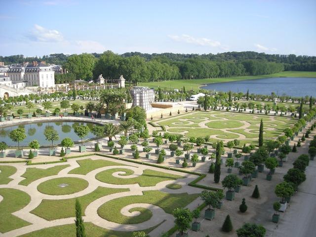 Versailles castle france, architecture buildings.