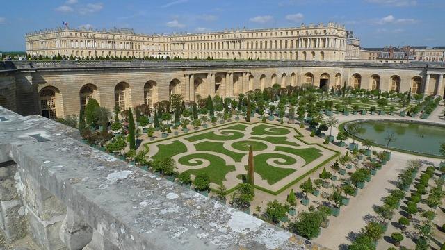 Versailles palace gardens, architecture buildings.