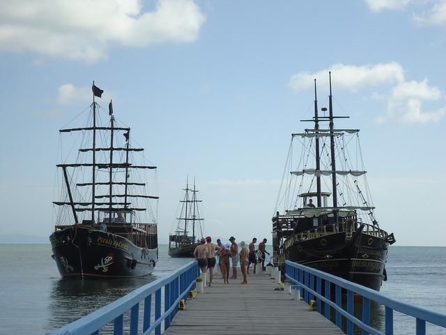 Vessels beach brazil, travel vacation.