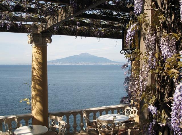 Vesuvius gulf of naples italy.