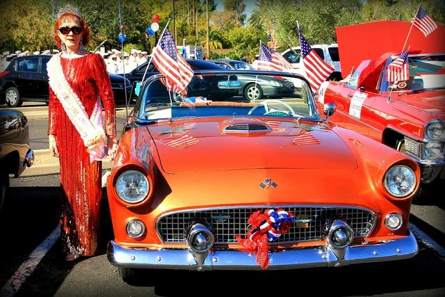 Veteran's day parade phoenix orange.