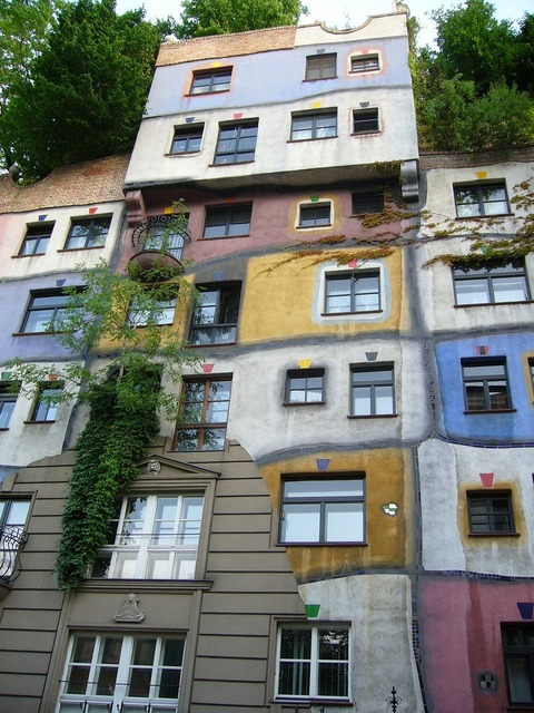 Vienna hundertwasser house, architecture buildings.