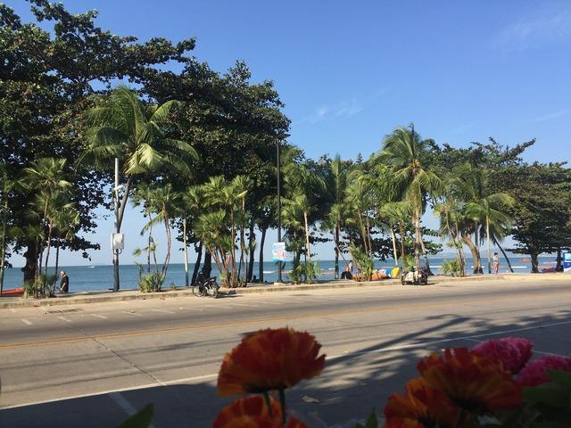Vietnam beach street, travel vacation.