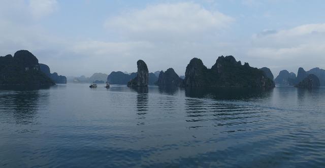 Vietnam halong sea, nature landscapes.