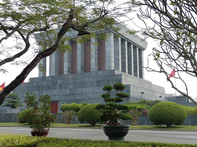 Vietnam hanoi capital, architecture buildings.