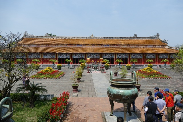 Vietnam hue palace, architecture buildings.