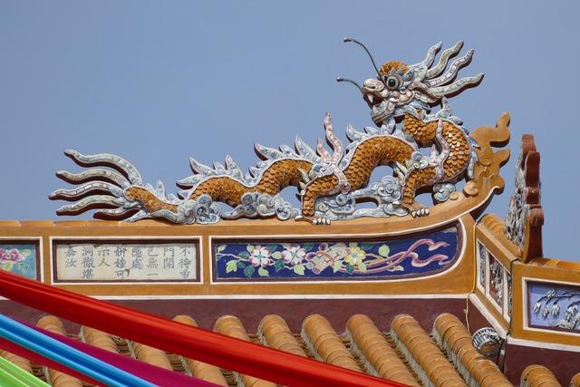 Vietnam hue palace, architecture buildings.