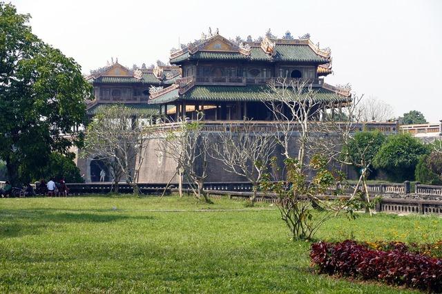 Vietnam hue unesco, architecture buildings.