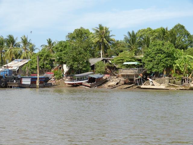 Vietnam mekong river mekong delta, transportation traffic.