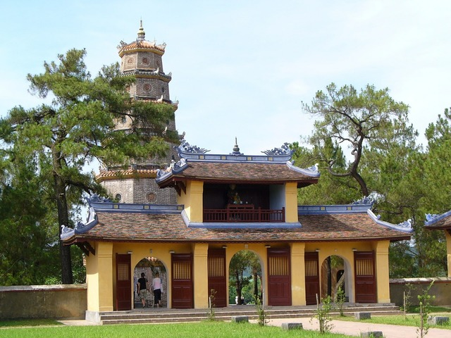 Vietnam pagoda building, architecture buildings.