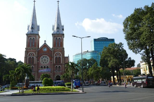 Vietnam saigon historically, architecture buildings.