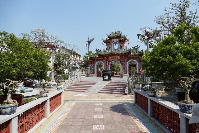Vietnam south east asia hoian, architecture buildings.