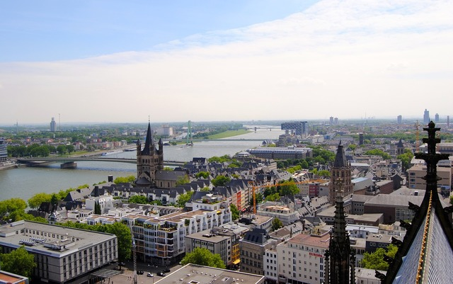 View from dom cologne crane homes, architecture buildings.