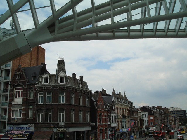 View train station liege, architecture buildings.