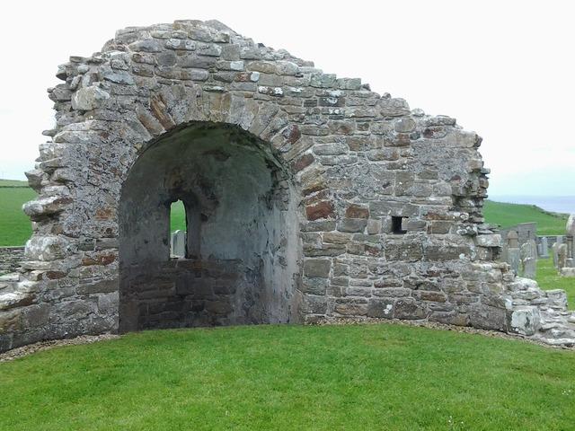 Viking church orphir orkney islands.