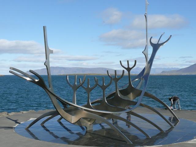 Viking reykjavik iceland, places monuments.