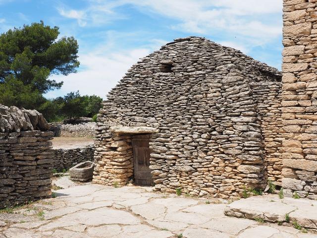 Village des bories open air museum historic preservation, architecture buildings.
