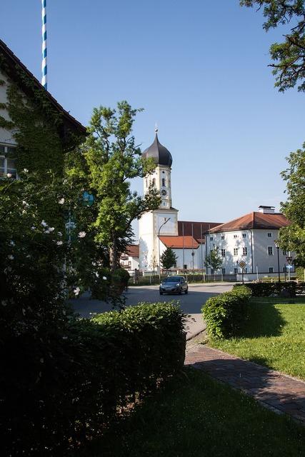 Village local transit church, religion.