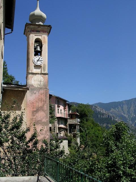 Village perched france, nature landscapes.