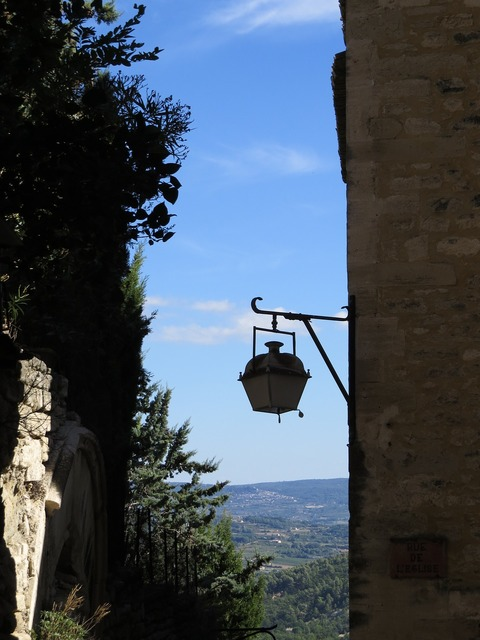 Village south of france idyll, architecture buildings.