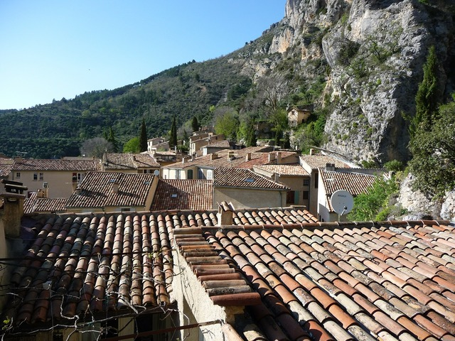 Village south of france roofs.