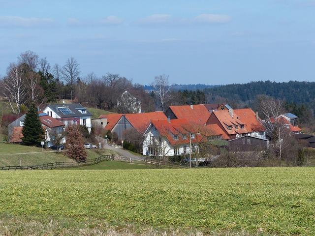 Village southern germany swabian alb.