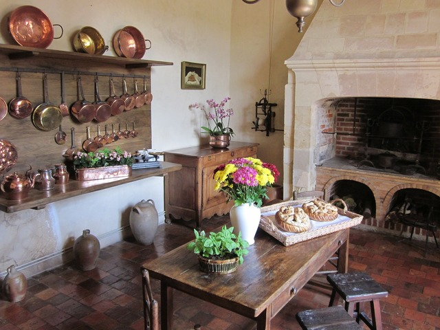 Villandry chateau kitchen.