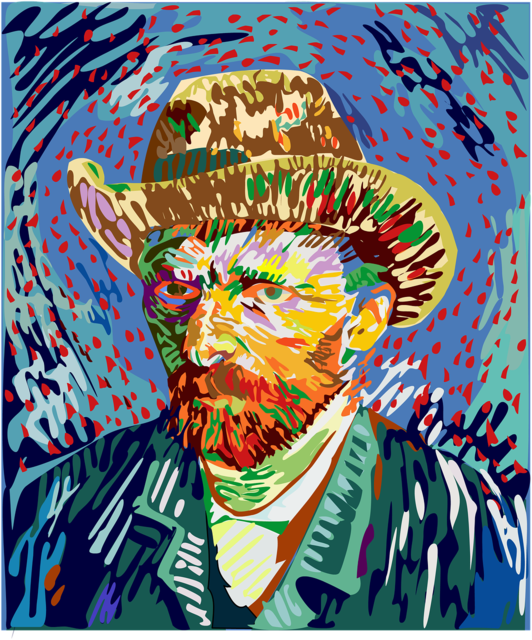 Vincent van gogh oil painting artist.