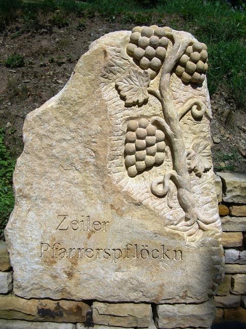 Vineyard relief stone.