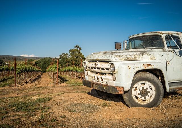 Vineyard wine napa, transportation traffic.