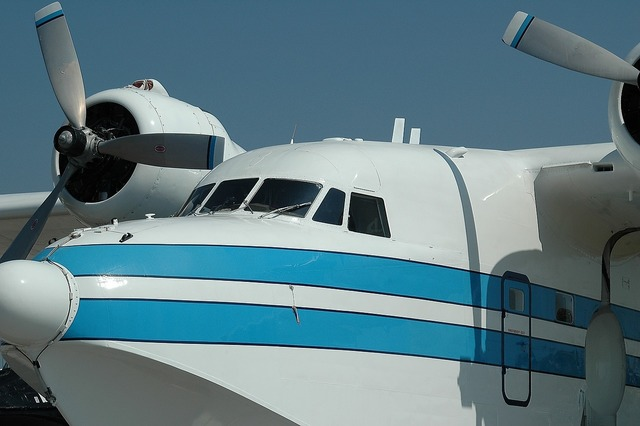 Vintage airplane air show old, transportation traffic.