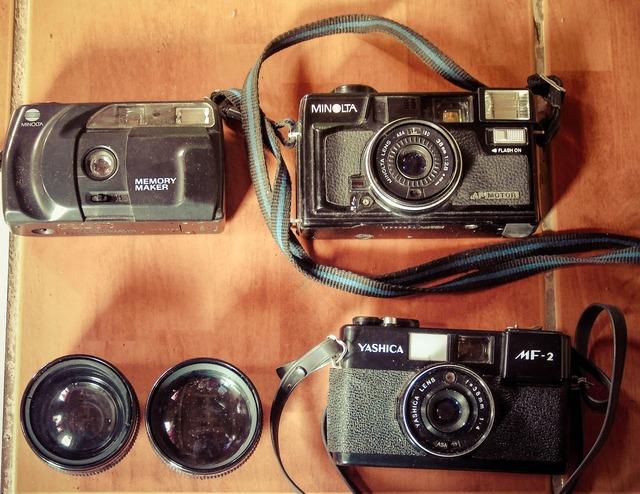 Vintage camera photography.