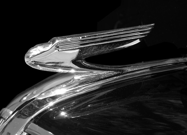 Vintage hood ornament antique, transportation traffic.