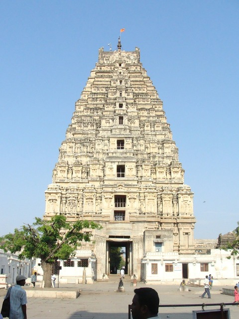 Virupaksha temple hampi unesco site, travel vacation.