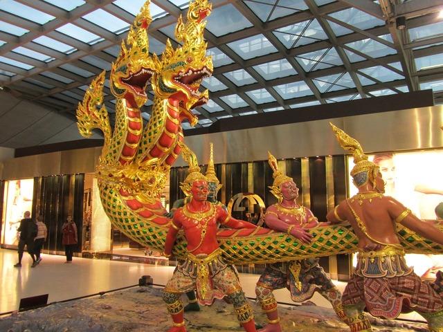 Vishnu kurmavatara thailand airport bombay, architecture buildings.