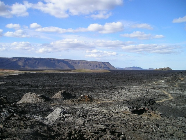 Volcano lava lava flow.