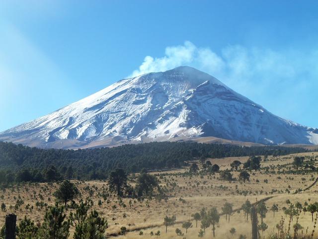 Volcano snow nature, nature landscapes.