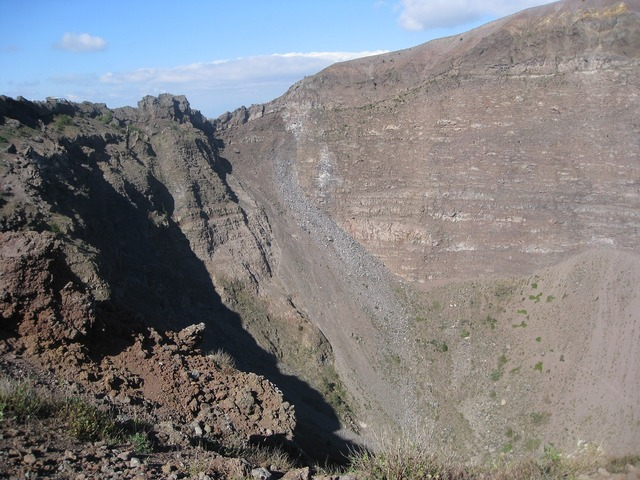 Volcano vesuvius mountain, nature landscapes.