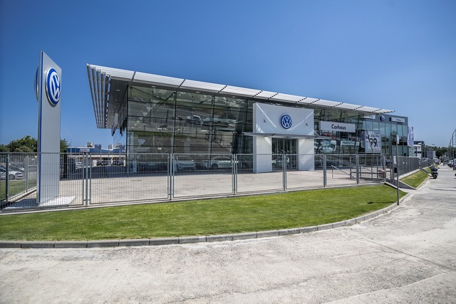 Volkswagen concessionaire architecture, architecture buildings.