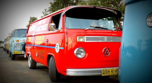 Volkswagen kombi bus, transportation traffic.