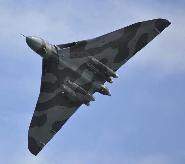 Vulcan bomber bomber jet.